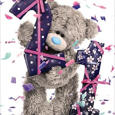 Tatty Ted 21st Birthday Card - Girl