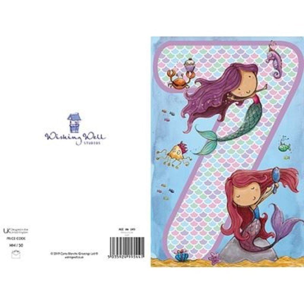 Wishing Well Studios Girls 7th Birthday Card