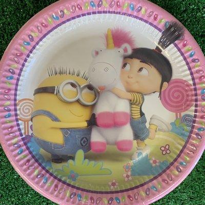 "Despicable Me 8 x 9"" Despicable Me Fluffy Paper Plates"