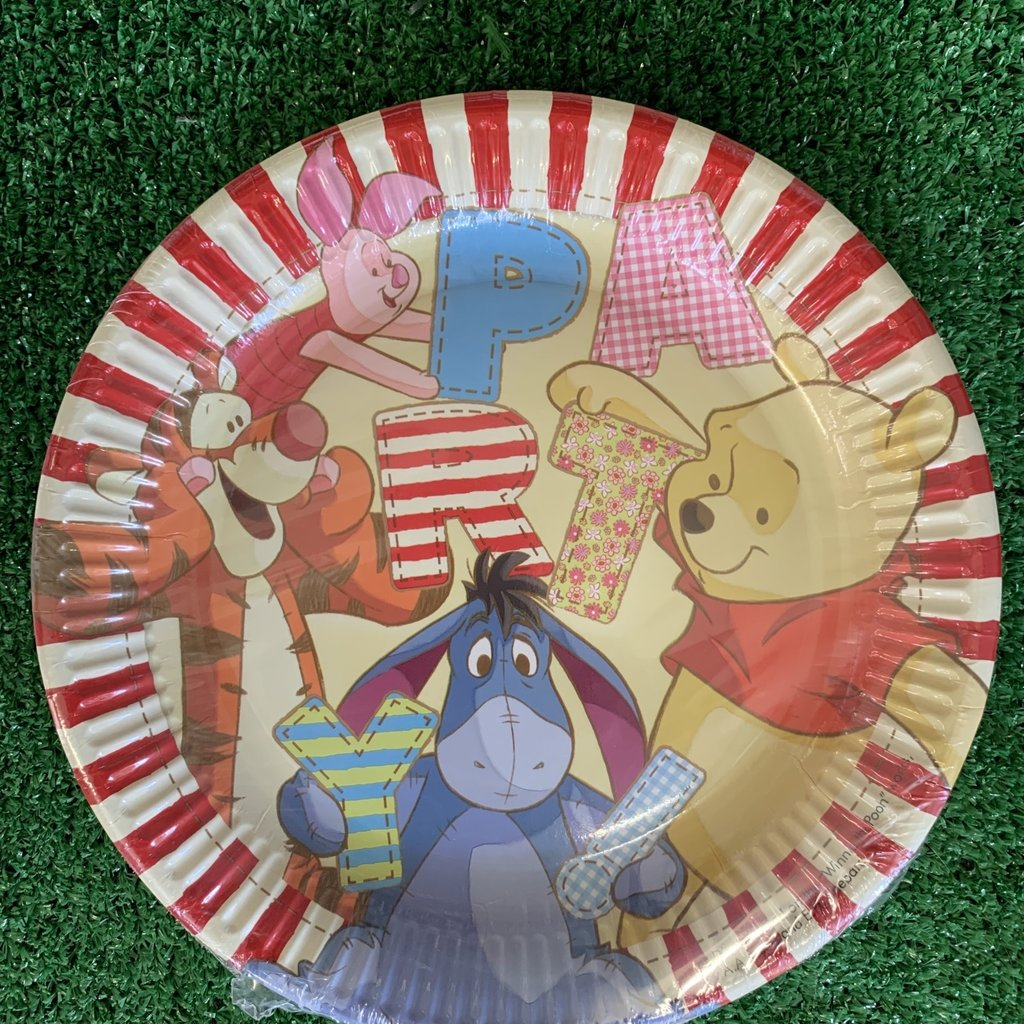 Disney 8 x Winnie the Pooh 23cm Paper Plates