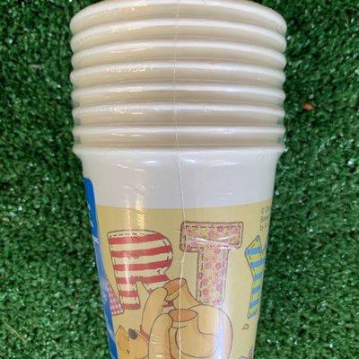 Disney 8 x Winnie the Pooh Paper Cups - 200ml