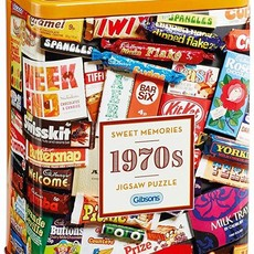 Gibsons 1970s Sweet Memories Puzzle in Gift Tin - 500pcs