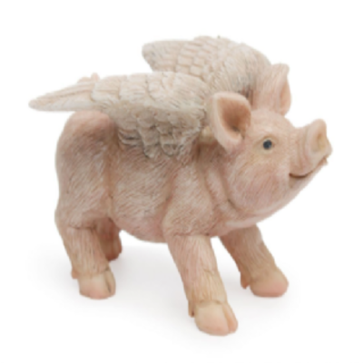 Woodland Knoll Woodland Knoll - Resin Flying Pig