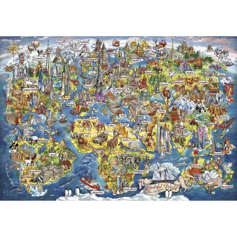 Gibsons Wonderful World Puzzle - 2000pcs