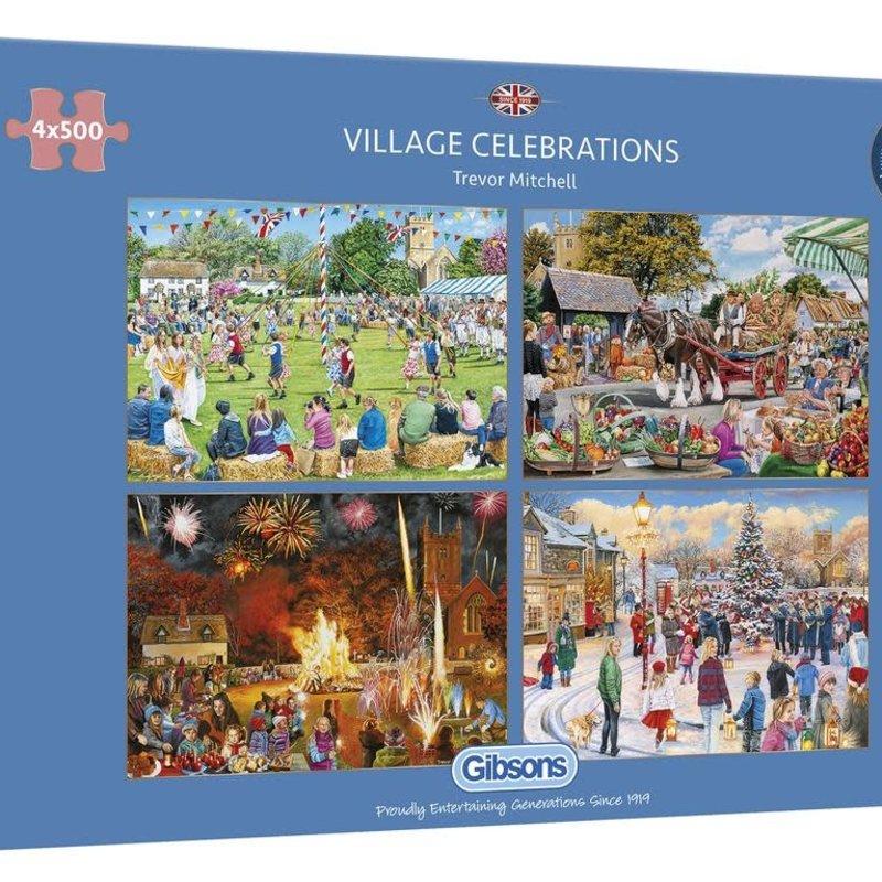 Gibsons Village Celebrations Puzzle - 4 x 500pcs
