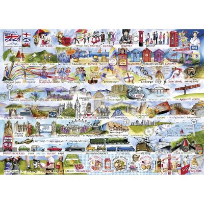 Gibsons Cream Teas & Queuing Puzzle - 1000pcs