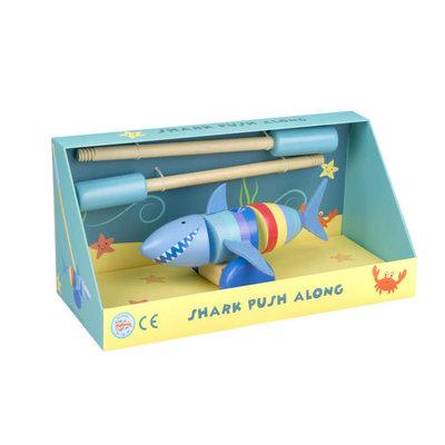 Orange Tree Toys Push Along Shark - Boxed