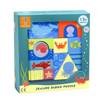 Orange Tree Toys Wooden Sealife Block Puzzle
