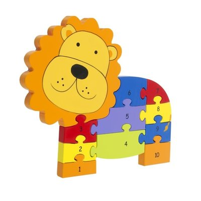 Orange Tree Toys Wooden Number Puzzle  - Lion