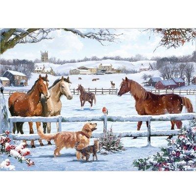 1000pcs - Christmas on the Farm - Puzzle