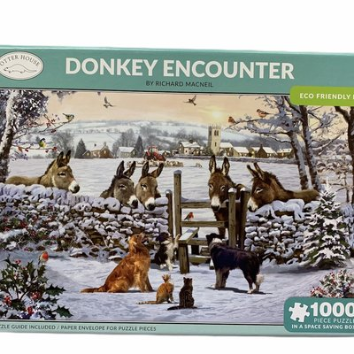 1000pcs - Donkey Encounter - Puzzle