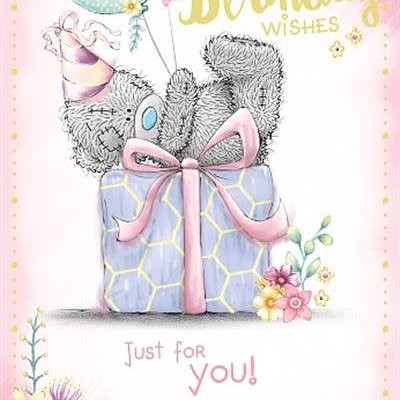 Me to You Open Bear on Gift Box Birthday Card