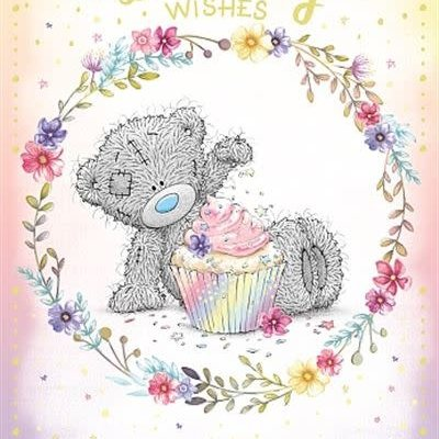 Me to You Birthday Bear With Cupcake Birthday Card