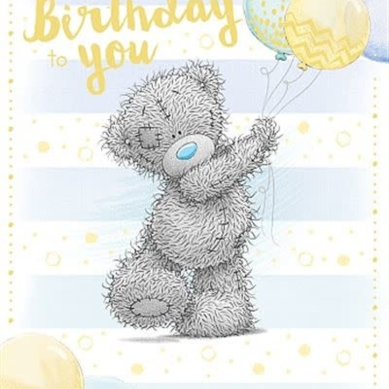 Me to You Bear with Balloons  Birthday Card