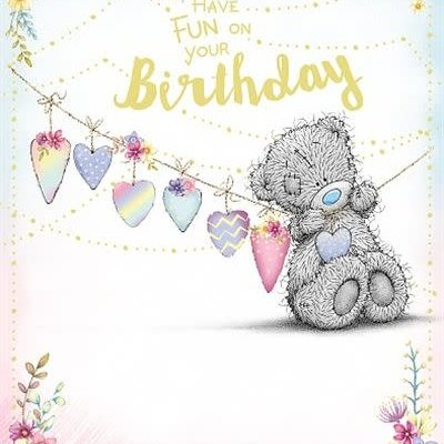 Me to You Birthday Bear with Bunting Birthday Card