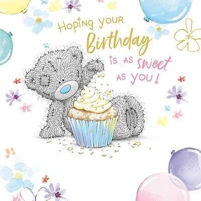 Me to You Bear Sprinkling Cupcake Birthday Card