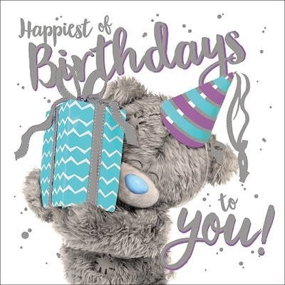 Me to You 3D Effect Bear Giving Present Birthday Card