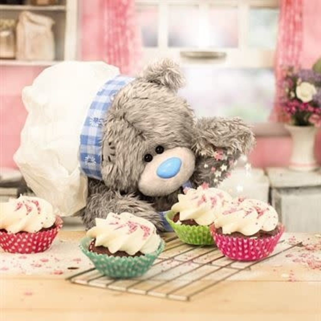 Me to You 3D Effect Bear & Cupcakes Birthday Card