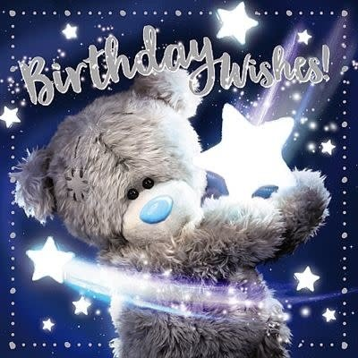 Me to You 3D Effect Bear with Stars Birthday Card