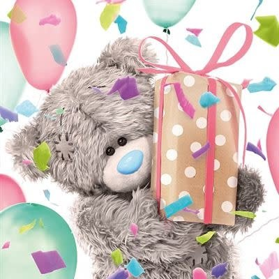 Me to You 3D Effect Bear with Present Birthday Card