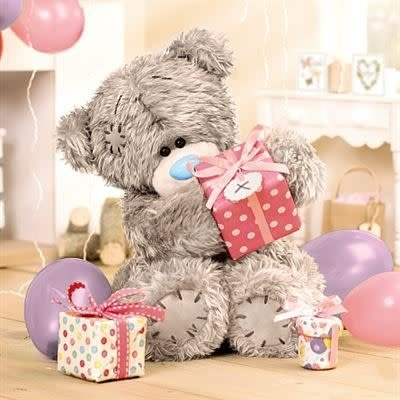 Me to You 3D Effect Bear with Gift Birthday Card