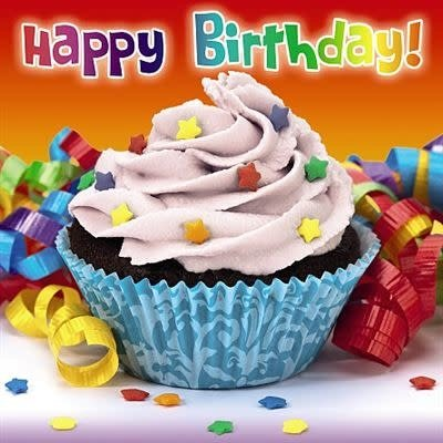 Up Close 3D Effect Birthday Cupcake Card