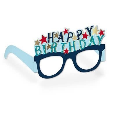 Hotchpotch Happy Birthday Glasses Birthday Card