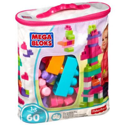 Mega Bloks Mega Bloks Building Bag Assortment  - 60pcs - Pink