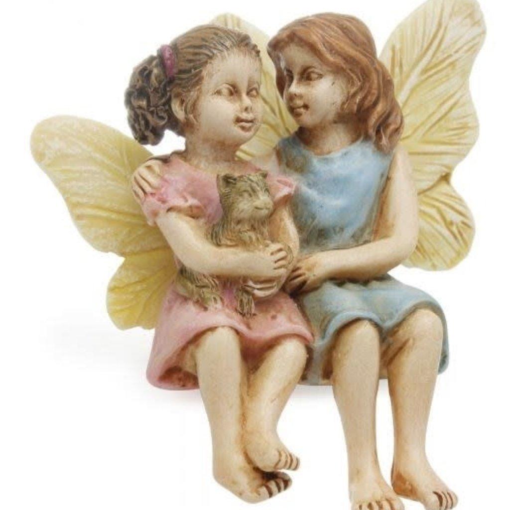 Woodland Knoll Woodland Knoll - Resin Sitting Fairy Sisters
