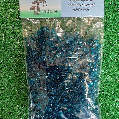 Fairy Village Plastic Beads - Aqua