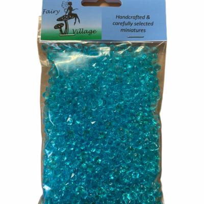 Fairy Village Plastic Beads - Blue