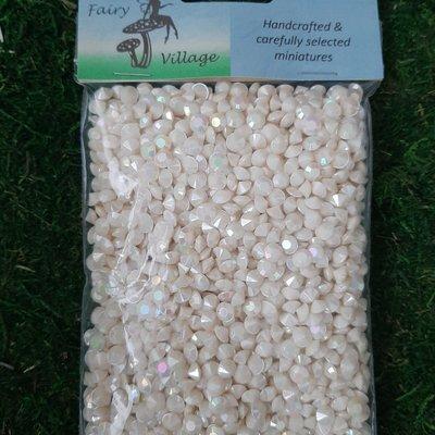 Fairy Village Plastic Beads - Cream