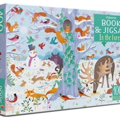 Usborne Jigsaw In the Forest - 100 pcs Jigsaw  with Book