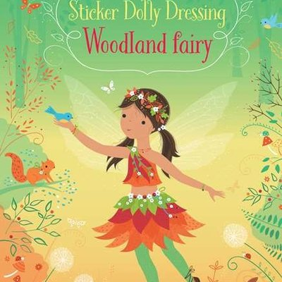 Usborne Activities Little Sticker Dolly Dressing Woodland Fairy Book