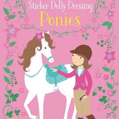 Usborne Activities Little Sticker Dolly Dressing Ponies Book