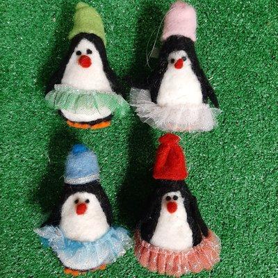 Shudehill Giftware Mixed Wool Penguin in Tutu - Hanging Decoration