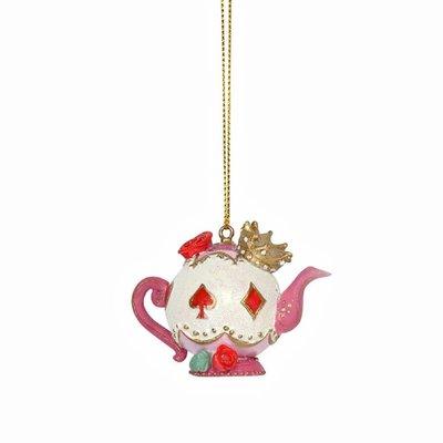 Gisela Graham Alice in Wonderland Resin Teapot Hanging Decoration