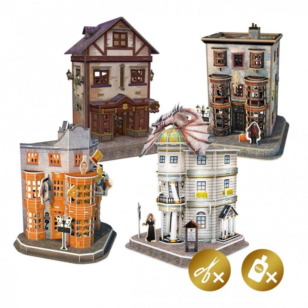 Harry Potter Harry Potter - Diagon Alley 3D Puzzle Set 4 in 1