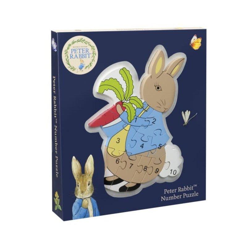 Peter Rabbit Wooden Number Puzzle - Peter Rabbit ( Beatrix Potter)