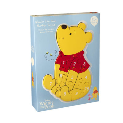 Disney Wooden Number Puzzle - Disney Winnie the Pooh