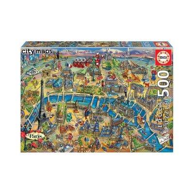 Educa 500pcs - Paris City Map Puzzle