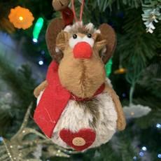 Shudehill Giftware Rudolf Hanging PomPom Reindeer with Heart