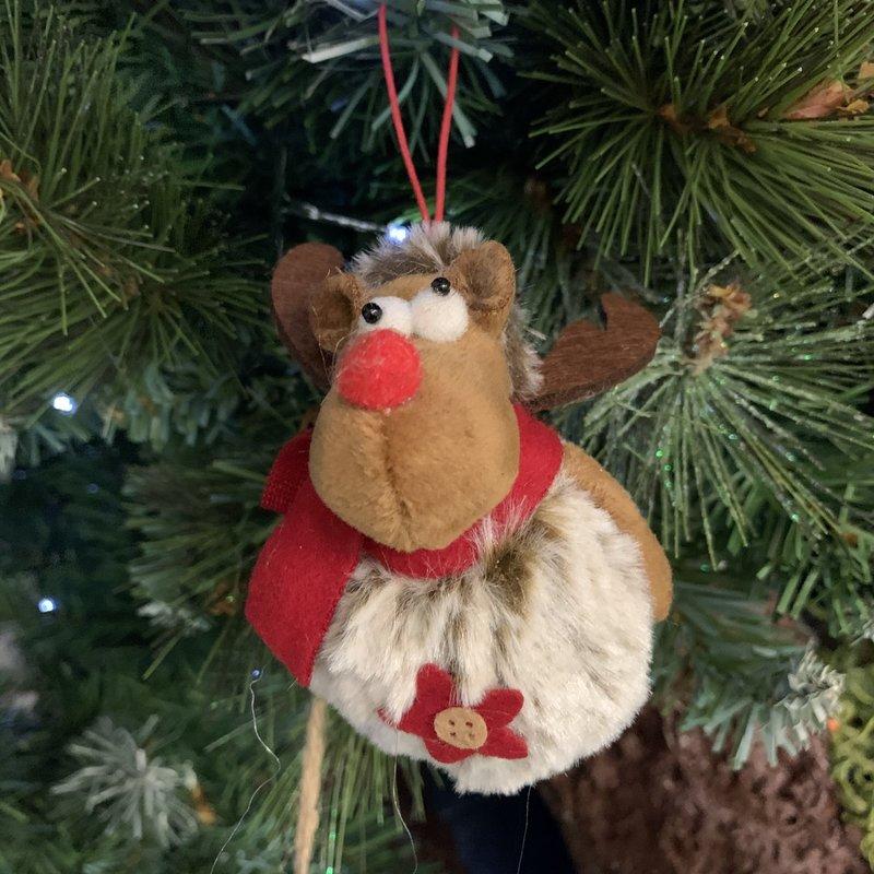 Shudehill Giftware Rudolf Hanging PomPom Reindeer with Star