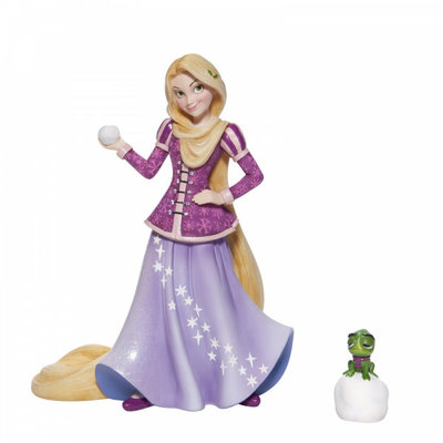 Disney Showcase Disney - Holiday Rapunzel with a Pascal Figurine
