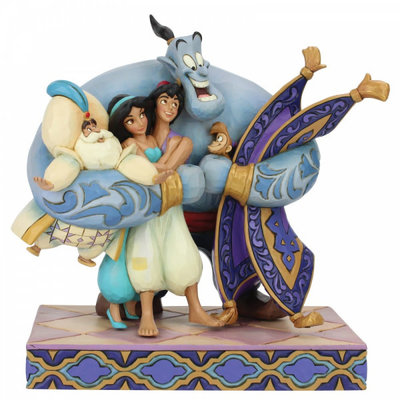 Disney Traditions Disney - Group Hug (Aladdin Figurine)