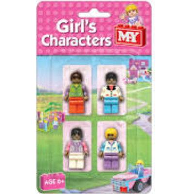 M.Y 4pcs Girl Brick Characters