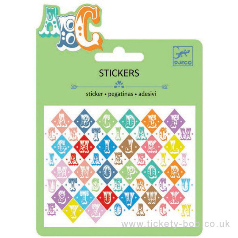 Djeco Saloon Letters Stickers