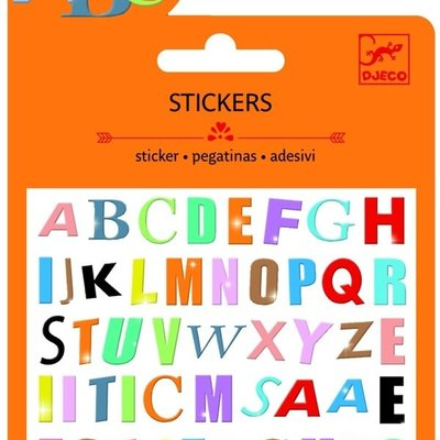 Djeco Coloured Letters Stickers