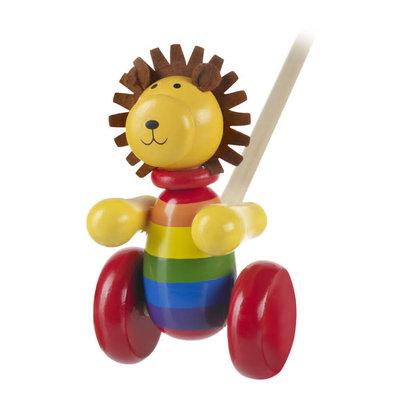 Orange Tree Toys Push Along Lion
