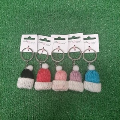 Molly & Rose Knitted Bobble Hat Key Ring